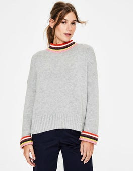 Grey Melange Lily Sweater