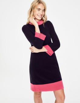 Navy/Garden Rose Mara Knitted Dress