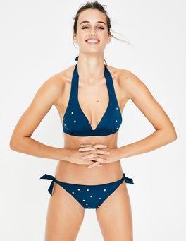 Gold, Folientupfen Bikinihose mit Kontrastbändchen