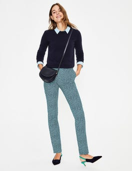Heron Blue, Cluster Spot Richmond Trousers