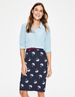 Navy & Heron Blue, Dandelion Modern Pencil Skirt
