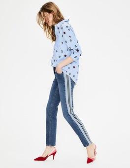Side Panel Interest Cavendish Girlfriend Jeans