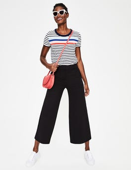 Black Hampshire Ponte Culottes