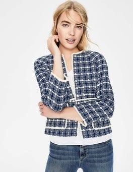Blue texture Ida Textured Jacket