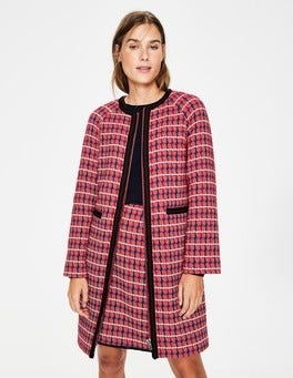 Red Texture Eadie Textured Coat
