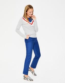 Cobalt Kensington Turn-up Pants
