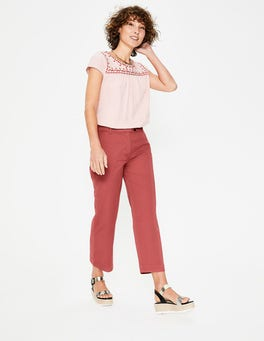 Rouge Helena Cropped Chino Trousers