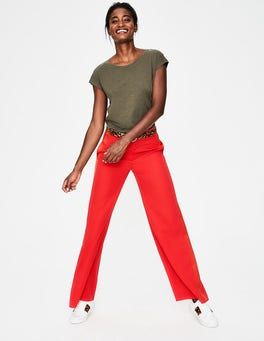 Red Pop Exeter Wide Leg Trousers