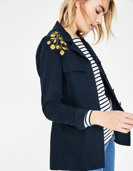 Navy Ruby Embroidered Jacket