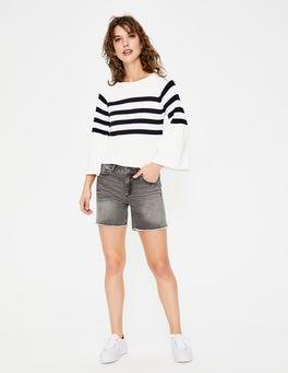 Grey Denim Salcombe Shorts