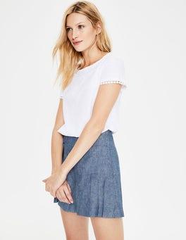 Light Chambray Zoe Linen Shorts