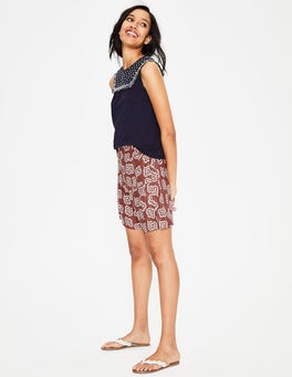 Rouge and Ivory, Falling Petal Zoe Linen Shorts