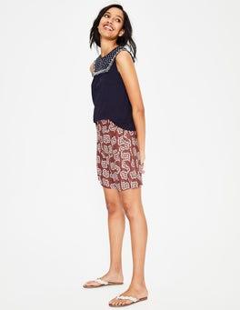 Rouge and Ivory, Falling Petal Zoe Linen Shorts