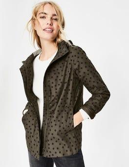 Khaki & Navy, Brand Spot Riley Waterproof Jacket