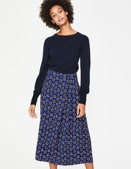 Lapis & Soft Truffle Star Saskia Midi Skirt