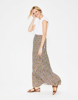 Ivory/Rouge Island Bloom Florence Maxi Skirt