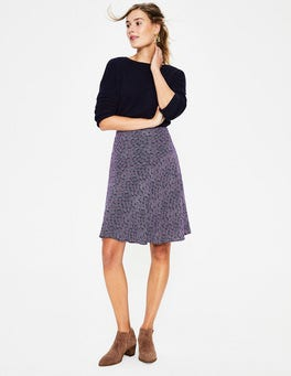 Navy, Floral Spray Virginia Skirt