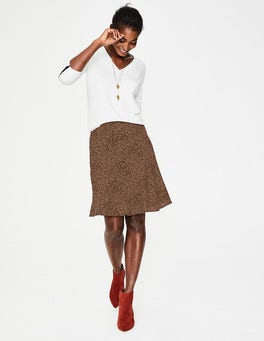 Black and Soft Truffle Spot Virginia Skirt