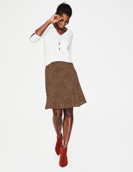 Black and Soft Truffle Spot Virginia Skirt