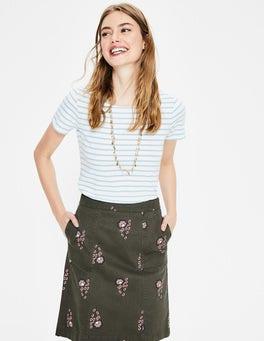 Classic Khaki, Island Sprig Helena Chino Skirt