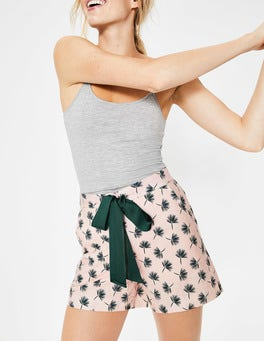 Dusty Pink, Holiday Palm Suzie PJ Shorts