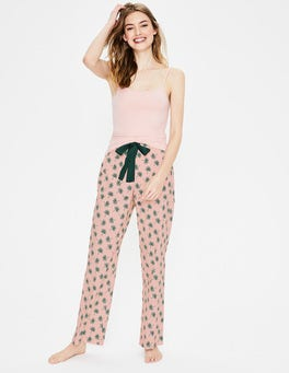 Dusty Pink, Holiday Palm Suzie PJ Trousers