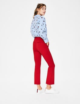 Poinsettia Hampshire Crop Flare Trousers