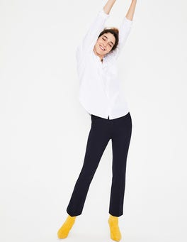 Navy Hampshire Crop Flare Trousers