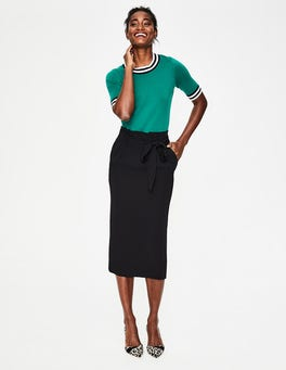 Black Melina Paperbag Skirt