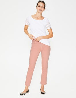 Chalky Pink Cambridge Ankle Skimmer Jeans