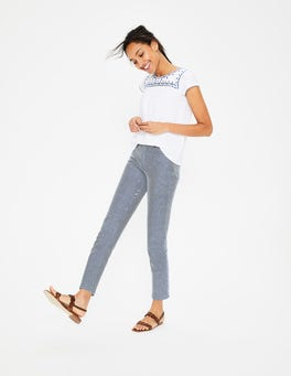 Ivory and Navy Ticking Stripe Cambridge Ankle Skimmer Jeans