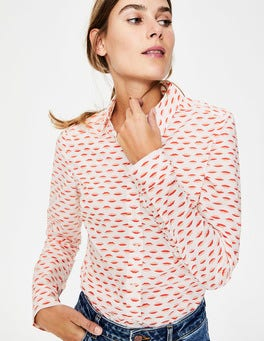 Ivory & Red Pop Lips Modern Classic Shirt