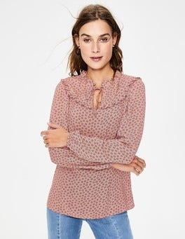 Chalky Pink Spotty Buttercup Betsy Top