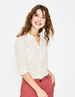 Multi Fil Coupé Linen Shirt