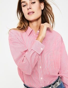 Garden Rose Ticking Stripe Maria Relaxed Shirt