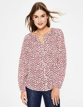 Conker Crocus Flower Esme Blouse