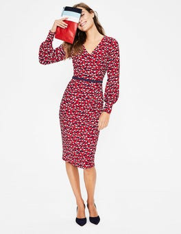Poinsettia Crocus Flower Hannah Dress