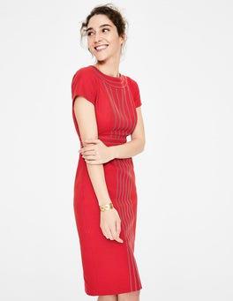 Poinsettia Kitty Textured Dress