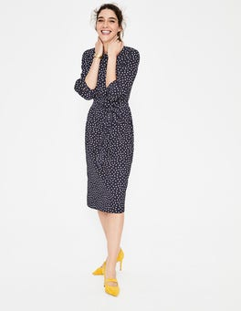 Navy & Ivory Random Spot Lottie Midi Dress