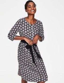 Black Starry Spot Ottilie Dress
