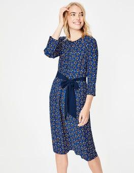Kobaltblau, Sterntupfen Ottilie Kleid
