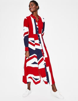 Navy Union Flag Charlotte Shirt Dress