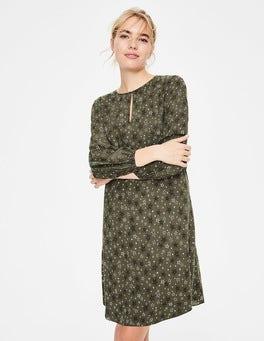Khaki Sketchy Stars Vanessa Dress