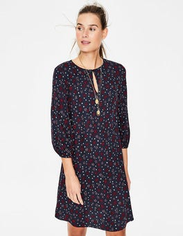 Navy Sketchy Stars Vanessa Dress