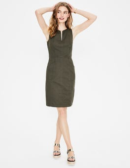 Green Helena Chino Dress