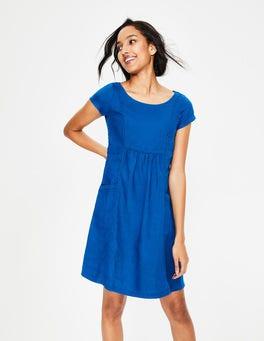 Cyan Alberta Linen Dress
