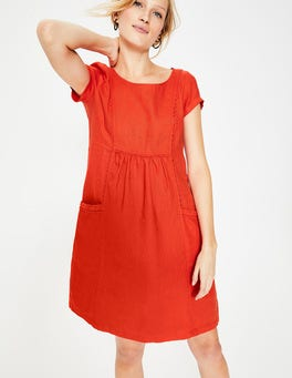 Red Pop Alberta Linen Dress