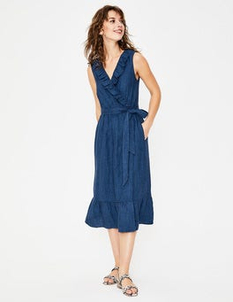 Delave Nancy Linen Midi Dress