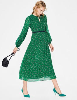 Forest Posy Bloom Ada Midi Dress