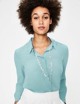 Heron Blue The Silk Shirt